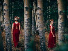 Loren & Chris Wedding Photography, LXC, LorenXChris  Red Wedding Dress Inspiration Forest Fall Colors