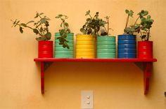 como decorar latas para macetas - Buscar con Google
