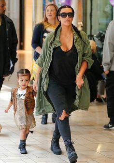 Kim Kardashian and North West/ march 13, 2016