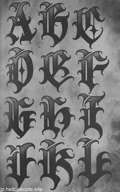 Calligraphy Tattoo Fonts, Tattoo Lettering Alphabet, Tattoo Lettering Design, Cursive Tattoos, Chicano Lettering, Graffiti Lettering Fonts, Graffiti Alphabet, Script Lettering, Images Alphabet