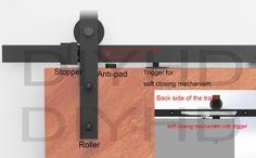 diyhd Soft Schließen Rustikale schwarze Schiebetür Barn Tür, Hardware Track Kit, stahl, 6.6ft-soft close kit: Amazon.de: Küche & Haushalt