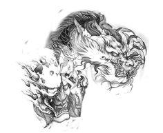 Japanese Hand Tattoos, Japanese Demon Tattoo, Japanese Dragon Tattoos, Dragon Tattoo Chest, Dragon Tattoo Back Piece, Dragon Sleeve Tattoos, Maori Tattoo Designs, Japanese Tattoo Designs, Dream Tattoos