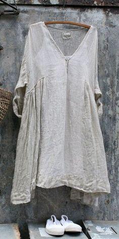 Linen Dress MegbyDesign – Linen Dresses For Women Unique Fashion, Boho Fashion, Fashion Outfits, Womens Fashion, Gothic Fashion, Dress Fashion, Linen Tunic Dress, Linen Dresses, Linen Blouse