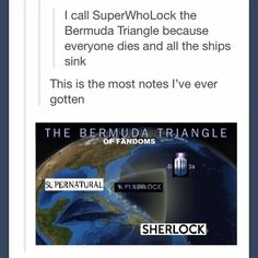 The Bermuda Triangle of fandoms.