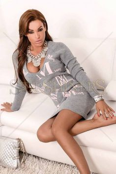 MissQ Great Letters Grey Blouse