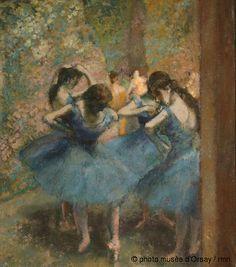 Edgar Degas, 'Danseuses bleues', 1890