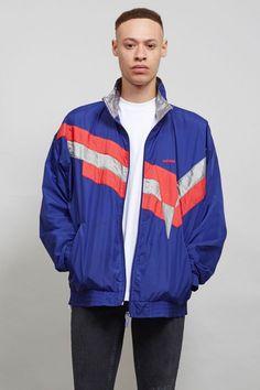 Adidas 80's purple vintage shell sports jacket
