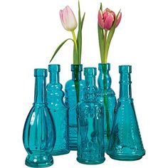 Luna Bazaar Vintage Painted Glass Bottles (7-Inch, Turquoise Blue, Set of 6) Cultural Intrigue http://www.amazon.com/dp/B00PV0AWWK/ref=cm_sw_r_pi_dp_5PI5vb03RHPWZ