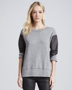 Current/Elliott | The Stadium Knit Sweatshirt - CUSP