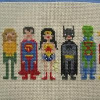 Embroidery: The Justice League of America