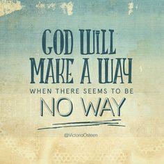 Reflexiones: will make a way..