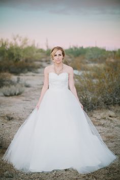 Tulle ballgown wedding dress with alencon lace bodice - by Bridal Bliss Designs