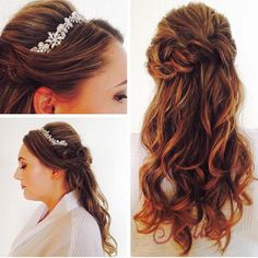 #bride #ottawawedding #ottawa #ottawahair #hottools #btcpics #modernsalon #ellenhunter @ellenhunternyc #highlights #cut #curls #halfuphalfdown #romantichair #angelinesykes #Showponyhair makeup by @onefinebeauty