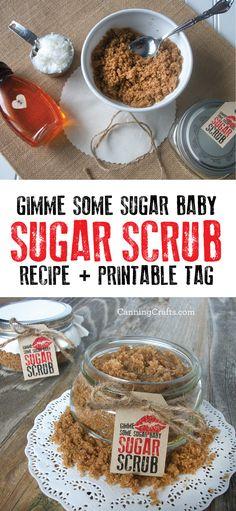 diy valentine s day honey sugar scrub recipe with free printable hag tag this simple sugar