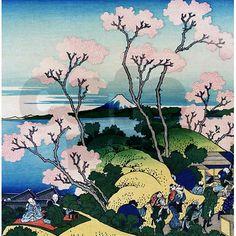 Hokusai Goten Yama Shower Curtain by Admin_CP2452714