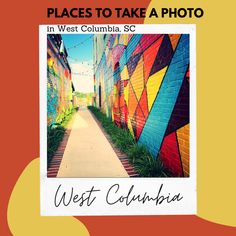 Urban style art perfect for fashion photography. Natural backdrops are also abundant with miles of safe public parks. West Columbia, Interactive Art, River Walk, Urban Style, Instagram Worthy, Selfie, Professional Photography, How To Take Photos, Vacation Ideas