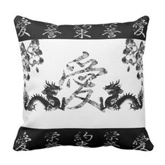Asian Inspired Collection Throw Pillow - home gifts ideas decor special unique custom individual customized individualized
