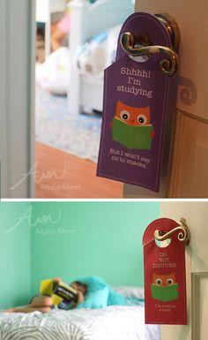 Fun Back-to-School Door Hanger Printables! by Brenda Ponnay for Alphamom.com