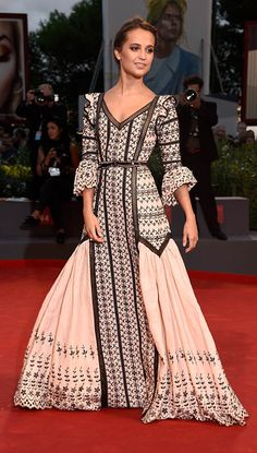 Alicia Vikander's Best Red Carpet Looks—Wearing: a princess-y Louis Vuitton gown.   Where: 72nd Venice Film Festival premiere of The Danish Girl, September 2015