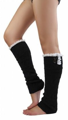 Lace Top Leg Warmers ♡