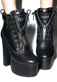 CURRENT MOOD Stay Dark Prophecy Platform Boots - Dolls Kill