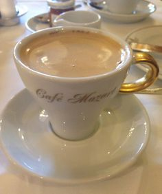 Vienna Cafe Mozart Coffee Cafe, Hot Coffee, Coffee Shop, Chocolate Topping, Hot Chocolate, Vienna Cafe, Steaming Cup, Savory Tart, Coffee Recipes