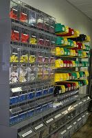 Plastic Storage Bins from Monster Bins to Organize office and supplies!