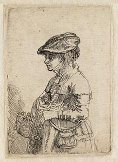 Mijn favoriete Rembrandt in Teylers Museum: Meisje met een mand (B356)