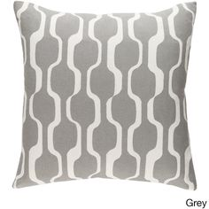 Surya Decorative 18-inch Calle Down or Polyeste Filled Throw Pillow (Grey - Polyester Filled), Size 18 x 18 (Cotton, Abstract)