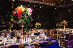 A romantic garden-inspired reception with vibrant floral #centerpieces | Photography: Blush Wedding Photography | WedLuxe Magazine #luxurywedding
