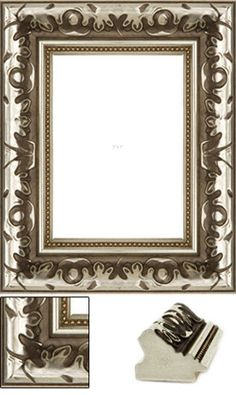 This ornate silver picture frame features ethereal leaf detail and a gorgeous scooped face and beaded border, creating a stunning frame for your art or photograph. Silver Picture Frames, Ethereal, Photograph, Detail, Canvas, Chic, Create, Face, Pictures