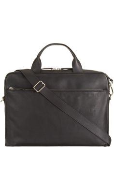 Barneys Perforated Zip Pocket Briefcase