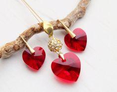 Swarovski teardrop crystal bridesmaids earrings by MalisaJewellery