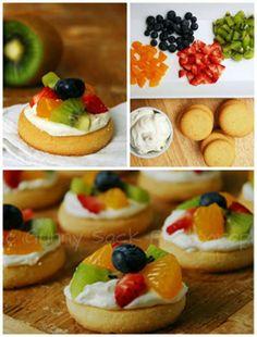 Mini tartes aux fruits sans cuisson. 15 Recettes salées et sucrée faciles pour un buffet froid et sans cuisson