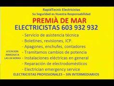 Electricistas PREMIÀ DE MAR 603 932 932 Baratos