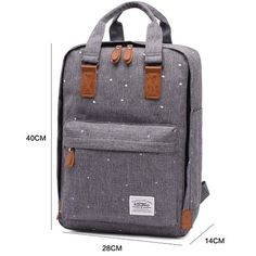 Amazon.com: KAUKKO Cool Backpack Casual Daypack Lightweight Handbag with Compurter Compartment Grey: Clothing