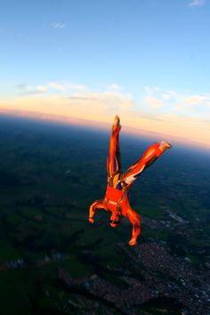 Cirque du Soleil Freefly - My friend Marcos with his new jump suit based in the Cirque du Soleil Alegria, in a beautiful sunset at Blituva - Brazil