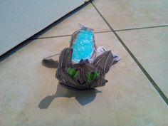 Toothless made with toilet roll