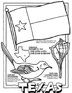 texas symbols coloring pages - photo#24