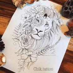 New tattoo lion sleeve drawings ideas Tattoo Bein, Leo Tattoos, Future Tattoos, Animal Tattoos, Arm Tattoo, Body Art Tattoos, Sleeve Tattoos, Tatoos, Color Tattoos