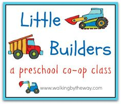 Perfect for little boys...  Little Builders theme with literature books + activities
