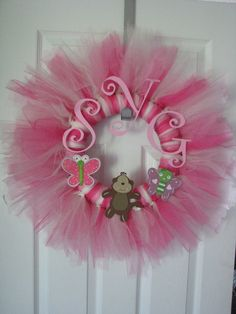 Baby Girl Tulle Wreath