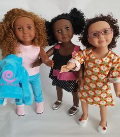 Get All 3 and Save! Deluxe package includes Nightgown and additional dress for each doll!
