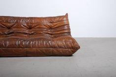 Canapé TOGO cuir Michel Ducaroy ligne Roset boutique vintage