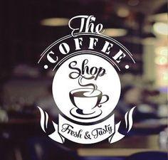 cafe coffee shop vinyl sticker