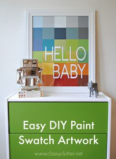 DIY Paint Swatch Artwork