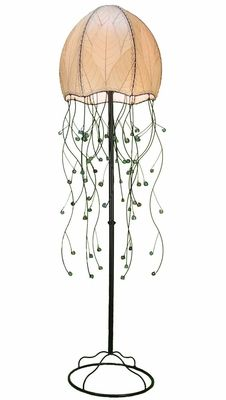 Jellyfish Floor Lamp in Natural - Beach Style - Floor Lamps - by ShopLadder Beach Style Floor Lamps, Kitchen Floor Lamps, Jellyfish Light, Art Deco Kitchen, Best Desk Lamp, Rustic Restaurant, Beach House Decor, Home Decor, Home Lighting