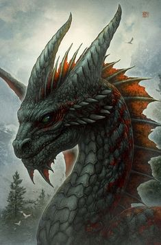 Designed by Kerem Beyit. Cover of the Dragon Chronicles series by Susan Fletcher, Ancient, Strange & Lovely. Magical Creatures, Fantasy Creatures, Fantasy Dragon, Fantasy Art, Cool Dragons, Pics Of Dragons, Dragon's Lair, Dragon Artwork, Dragon Drawings