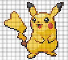 Cross me not: Pokemon cross stitch pattern, Would work as pattern for pixel crochet! Pokemon Cross Stitch, Cute Cross Stitch, Cross Stitch Designs, Cross Stitch Patterns, Cross Stitching, Cross Stitch Embroidery, Embroidery Patterns, Pikachu, Pixel Art Grid
