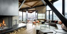 An Angular #Mountain #Retreat in #Colorado Captures Breathtaking Views - Dwell #livingroom